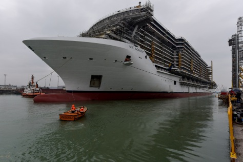 Esse teste é um importante marco na construção de um navio de cruzeiro 6c8c49db70701